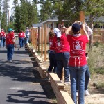 Women Build new fence at Women's Build event